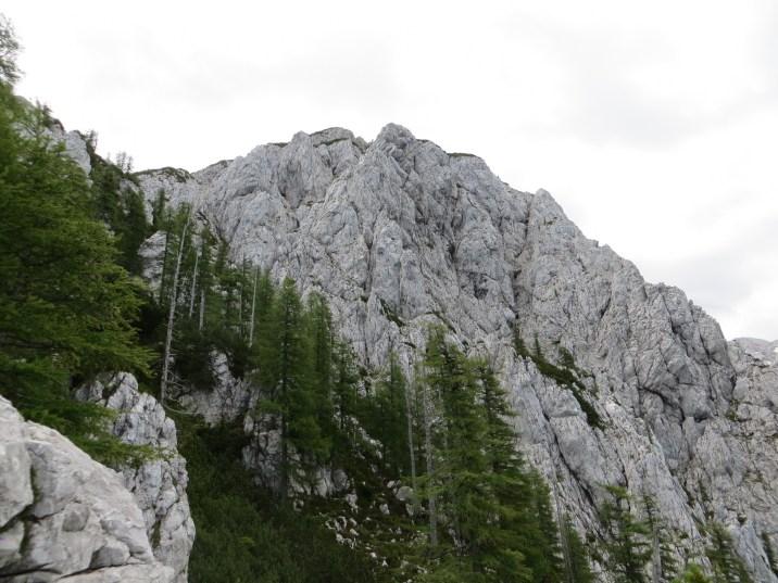Górna granica lasu na stromych stokach Malej Baby i ściana szczytu, która może nieco onieśmielać w pierwszej chwili… Szlak jednak jest dobrze przygotowany i ubezpieczony. W górnych partiach dość znaczna ekspozycja.