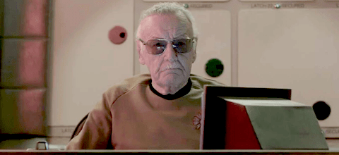 Image result for stan lee star trek