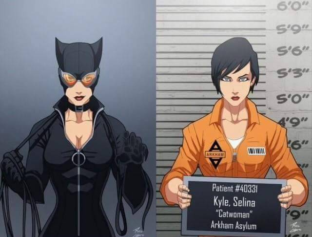 Batmans Badguy Wall of Shame: Arkham Mugshots I