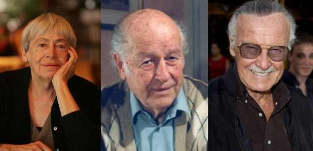 Award winners Le Guin, Harryhausen & Lee