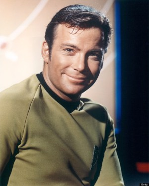 William Shatner, Canadian actor, in a costume, smiling in a publicity portrait issued for the US television series, 'Star Trek', circa 1968. The science fiction series starred Shatner as 'Captain James T Kirk'.