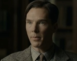Benedict Cumberbatch as Alan Turing.