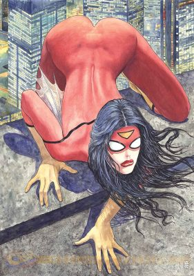 Variant cover of Spider-Woman #1 Drawn by Milo Manara