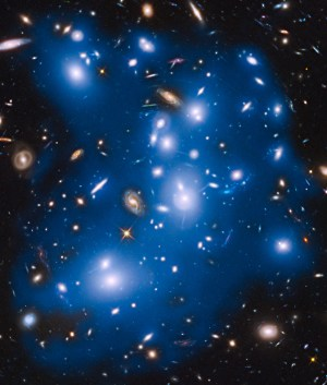 A recent image from NASA's Hubble Space Telescope of a cluster of galaxies shows the same type of star glow as seen by CIBER only at smaller scales.