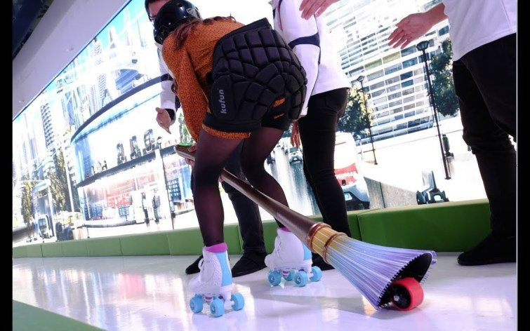 Toyota Electric Broom with rider