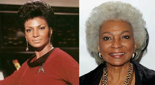 nichelle nichols lt uhura then and now