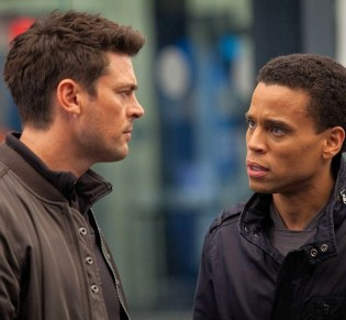 "Karl Urban and Michael Ealy are ""Almost Human."""