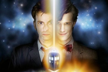 David Tennant and Matt Smith post for the 50th anniversay of Doctor Who.