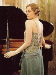 Lady Edith wears Downton's best clothes.