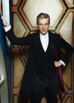 The Twelfth Doctor Who initially wore a long jacket with red lining.