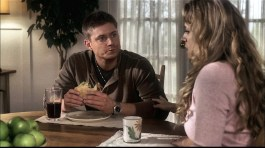 Dean enjoys a BLT sandwich with his mother.
