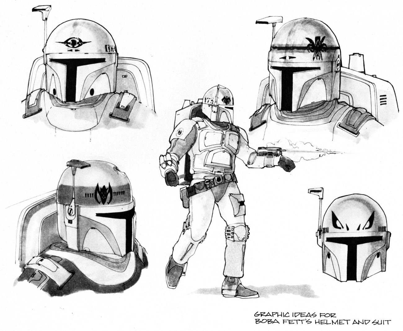 Vintage Star Wars Concept Art The Evolution Of Boba Fett