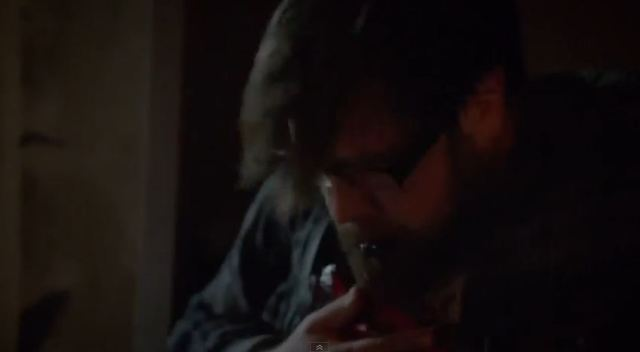 Revolution season 2 - Zak Orth as Aaron being struck by blade