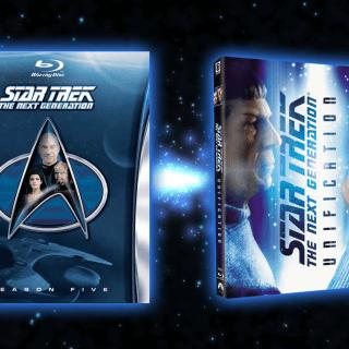 Star Trek TNG season 5 & Unification Blu-ray covers