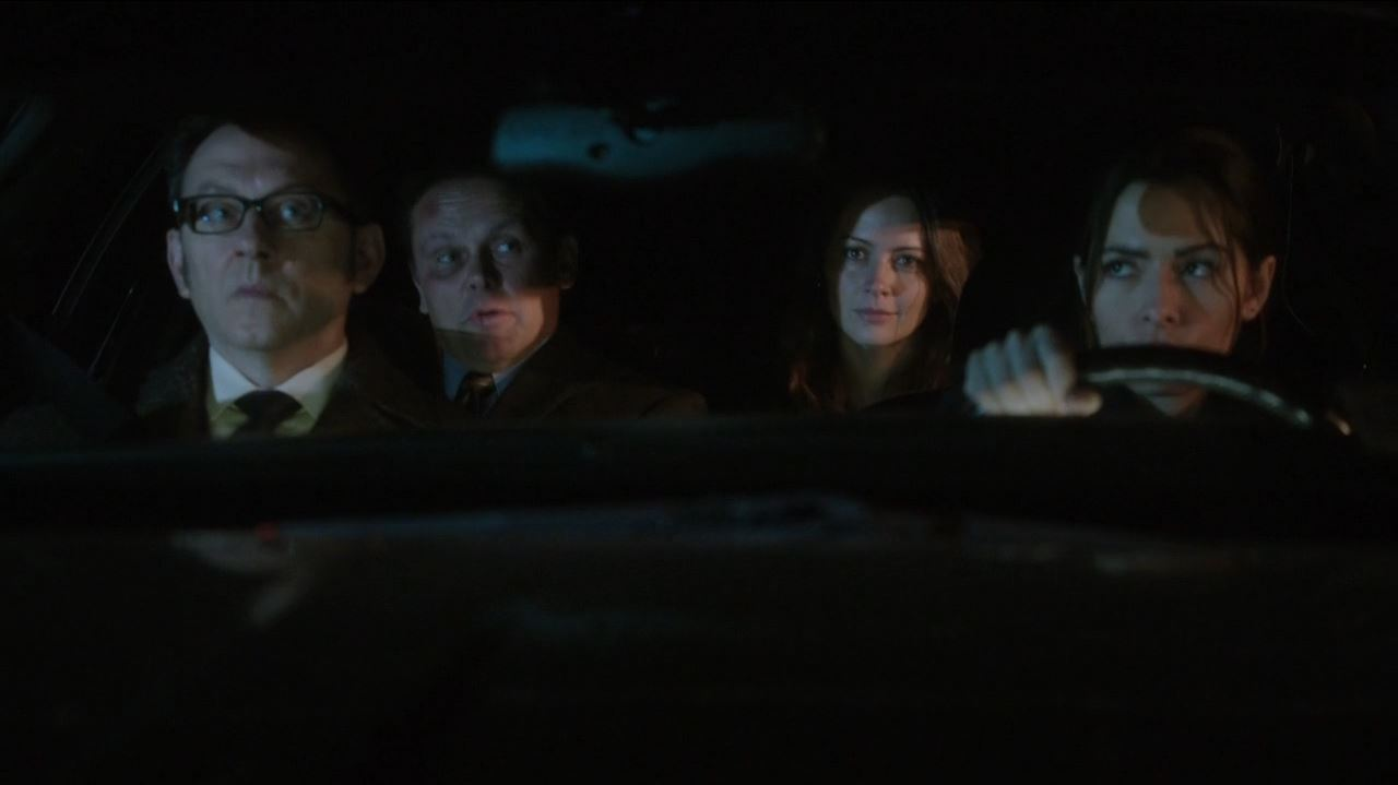 Person of Interest - The Devil's Share - our near gang (Fusco, Finch, Root and Shaw)