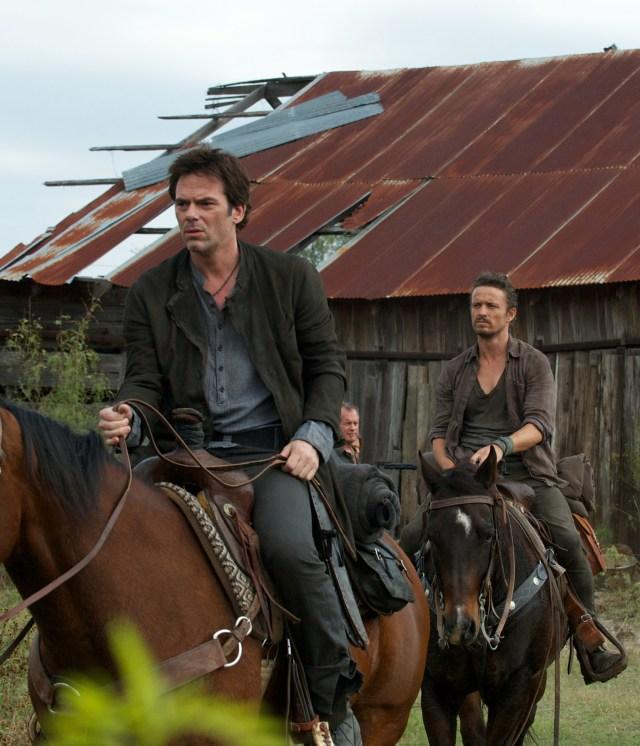 Revolution - Three Amigos - Monroe and Miles on horseback