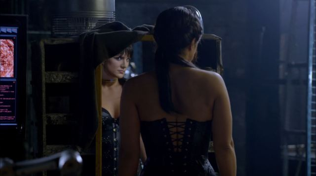 Almost Human - Unbound - Gina Carano as XRN combat android wearing a corset