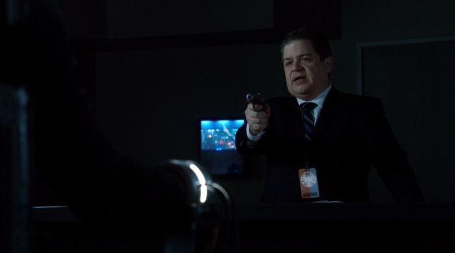Agents of SHIELD - 'The Only Light in the Darkness' - agent Koenig interrogating Ward