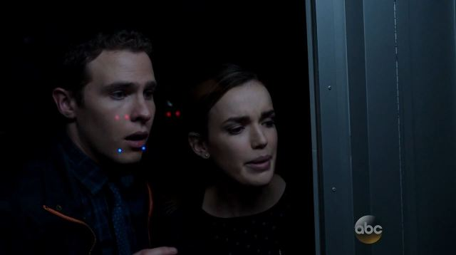 Agents of SHIELD Ragtag - Fitz and Simmons about to be ejected from The Bus