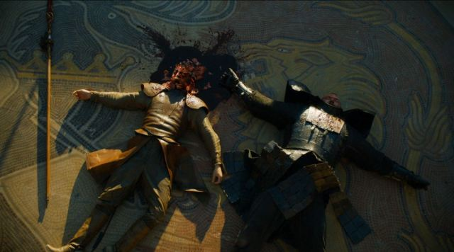 Game of Thrones 'The Mountain and The Viper' Review http://scifiempire.net Game Of Thrones - Oberyn's crushed head and wounded Mountain