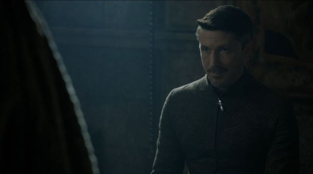 Game of Thrones 'The Mountain and The Viper' Review http://scifiempire.net Game Of Thrones - Petyr Baelish (Aidan Gillen)  being questioned