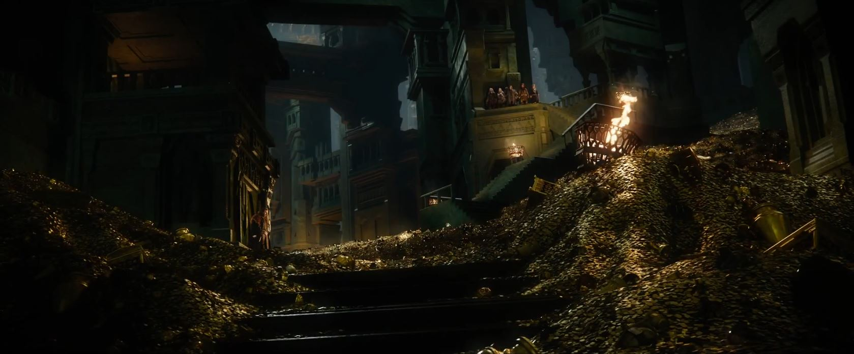 The Hobbit The Battle of the Five Armies Trailer - Erebor riches