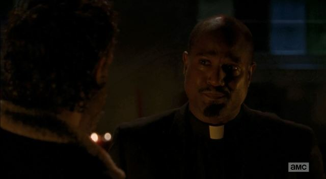Father Gabriel confronted by Rick - The Walking Dead S5Ep3 Four Walls and a Roof Review