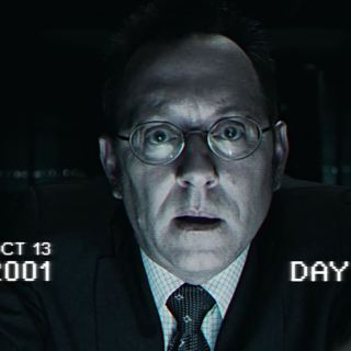 Harold Finch testing The Machine in 2001 (Michael Emerson)