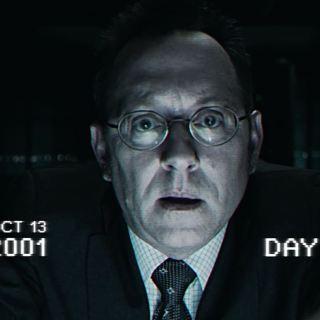 Harold Finch testing The Machine in 2001 (Michael Emerson)