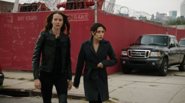 Sameen Shaw and Ms Groves (root) hunted by Martine. Person of Interest S4Ep9 The Devil You Know Review