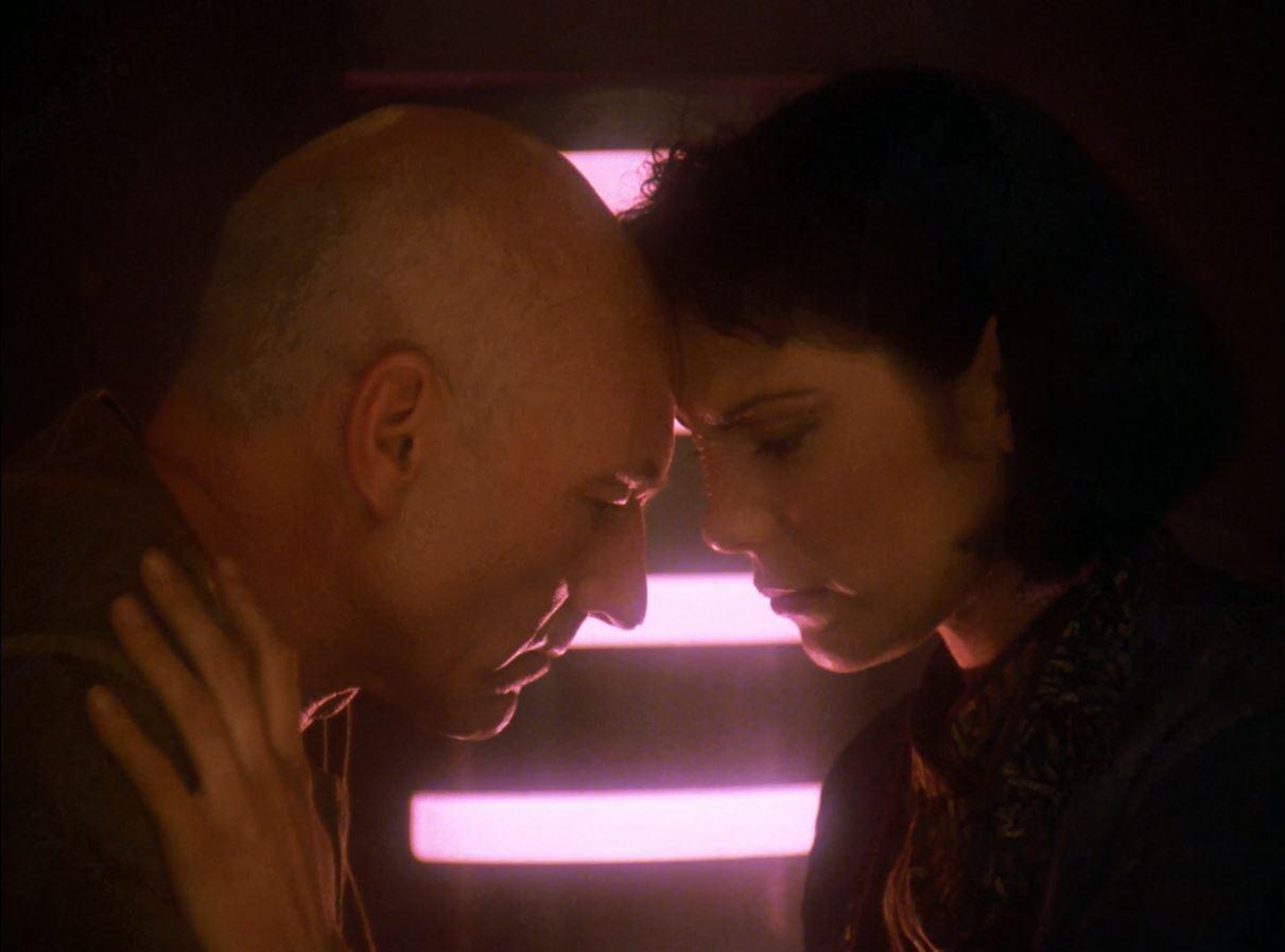 Star Trek TNG Season 7 Blu-ray Review. Picard and Ro Laren together