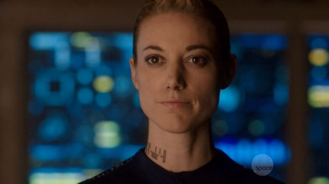 Dark Matter Series Premiere Review. Zoie Palmer as The Android