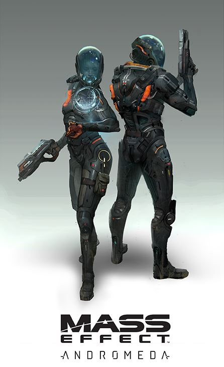Mass Effect Andromeda male and female soldiers