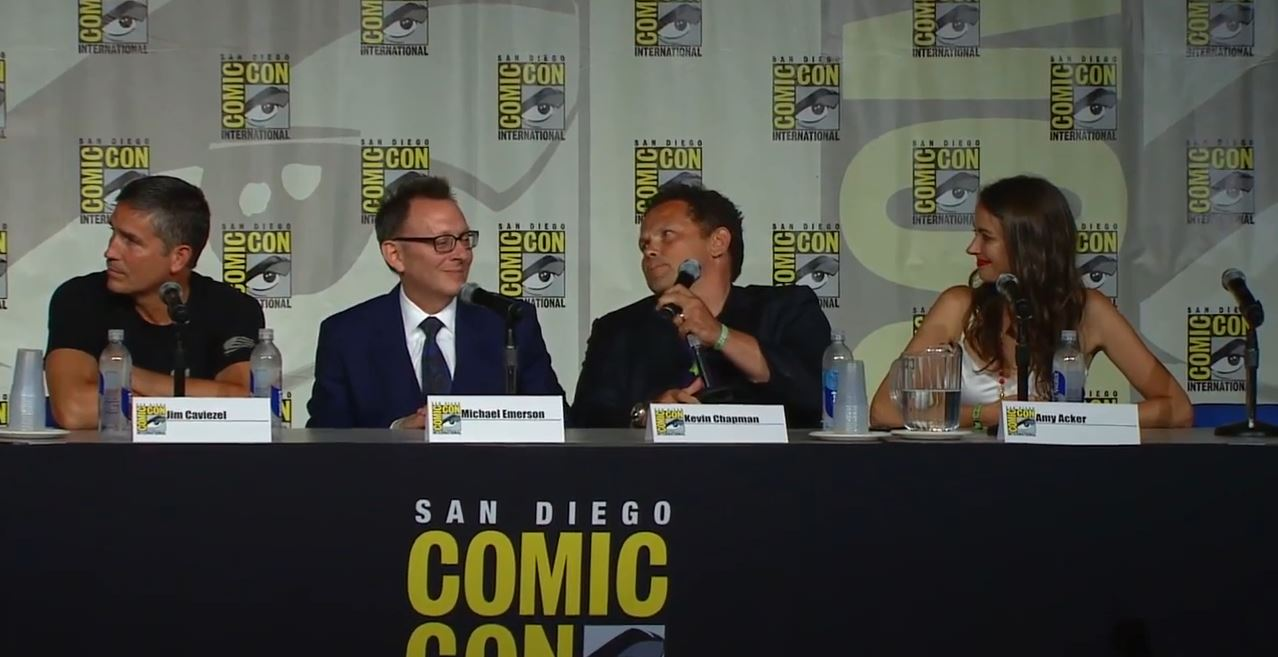 Kevin Chapman answering questions at Comic-Con 2015. Person of Interest Season 5 Preview