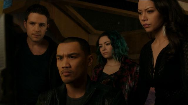 the crew searches Six computer. Dark Matter Episode 8 Review