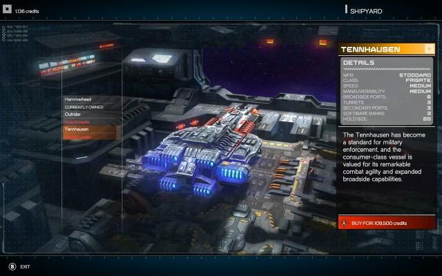 Rebel Galaxy buying a new ship