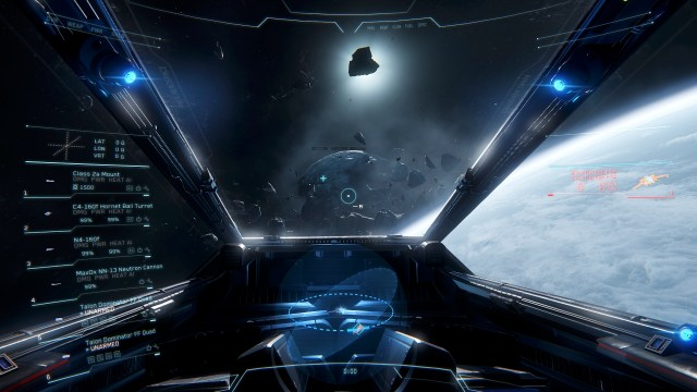 Star Citizen cockpit view