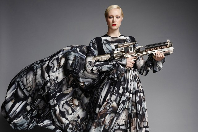 Giles Deacon dresss The Force Awakens Gwendoline Christie