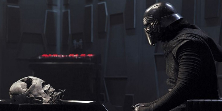 The Force Awakens Review Kylo Ren and Vader's helmet