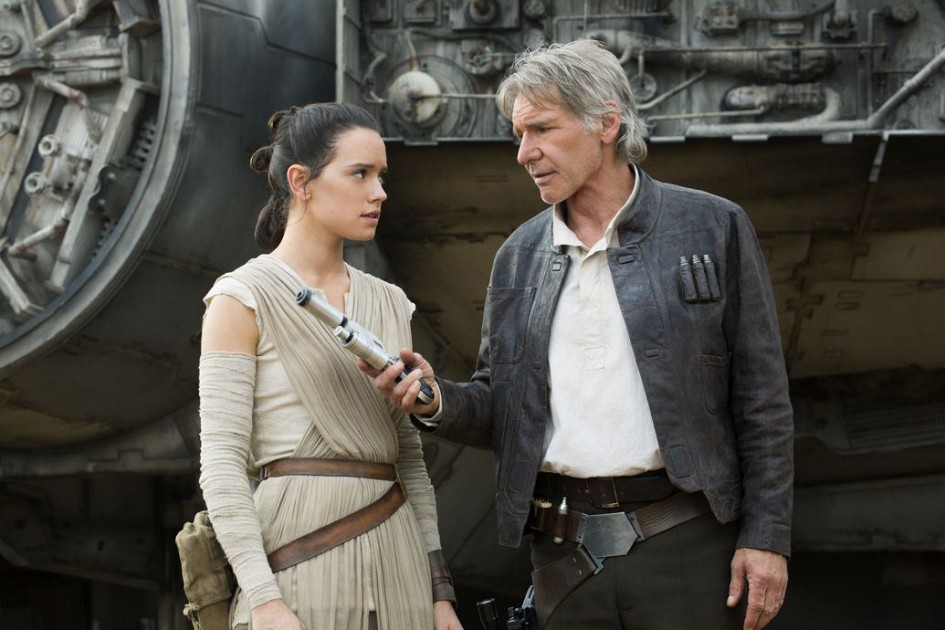 Rey and Han Solo - The Force Awakens review