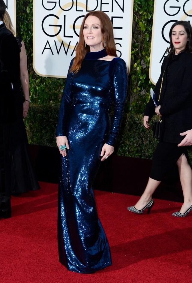 Julianne Moore at Golden Globes 2016