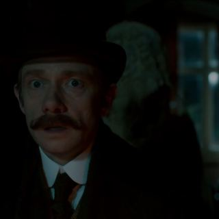 Watson pursued by the The Abominable Bride