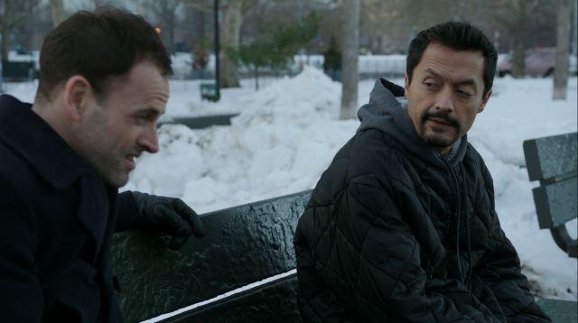 Sherlock interrogates a drug dealer. Elementary S4Ep17