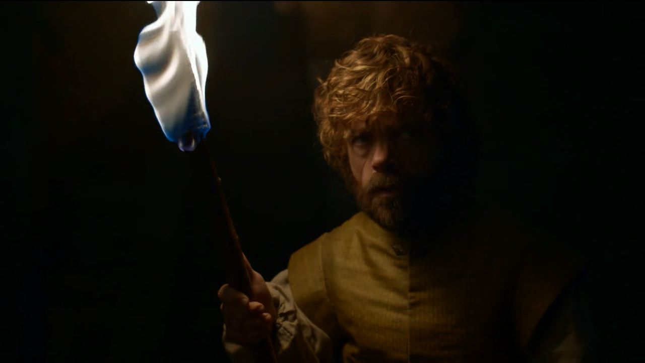 Tyrion tickles a dragon. Game of Thrones S6Ep2 Home Review
