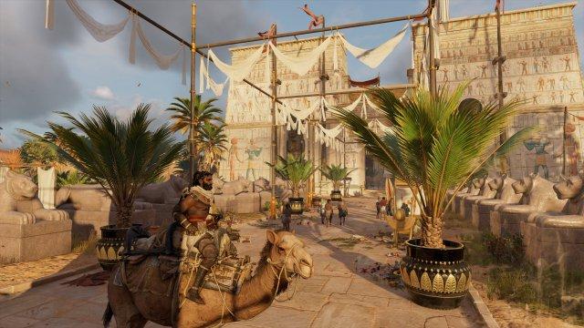 Assassin's Creed Origins - Riding a camel to market