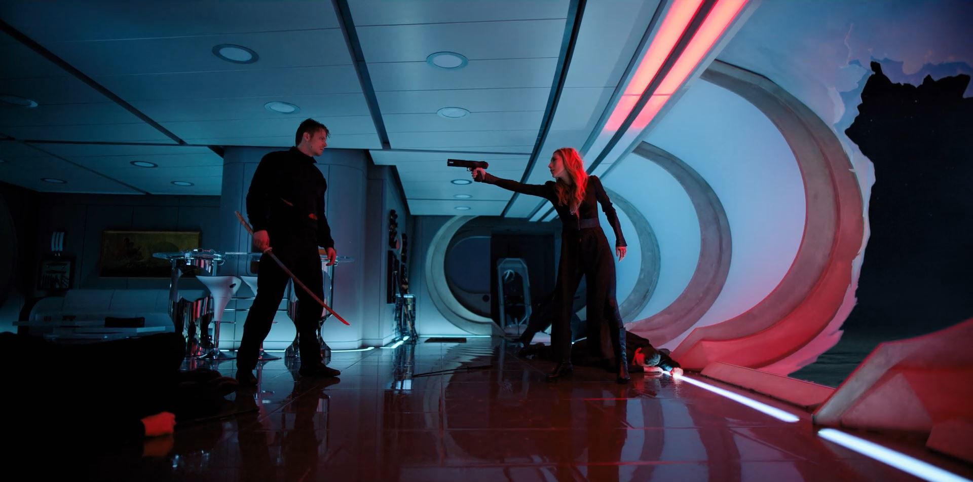 Altered Carbon - Kovacs confronting Reileen