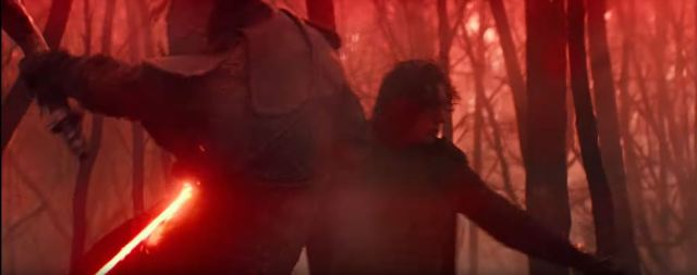 Star Wars The Rise of Skywalker Kylo Ren (Adam Driver) cutting down soldier