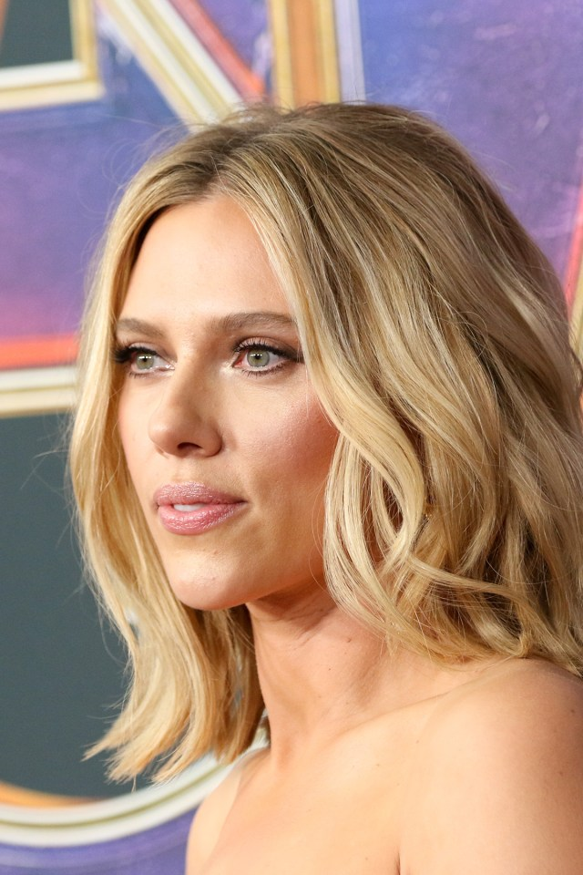 Scarlett Johansson closeup at Avengers Endgame premiere