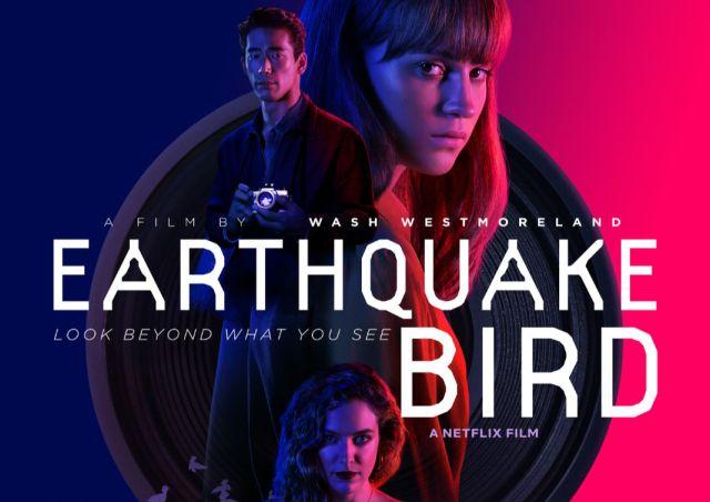 Earthquake Bird poster starring Alicia Vikander