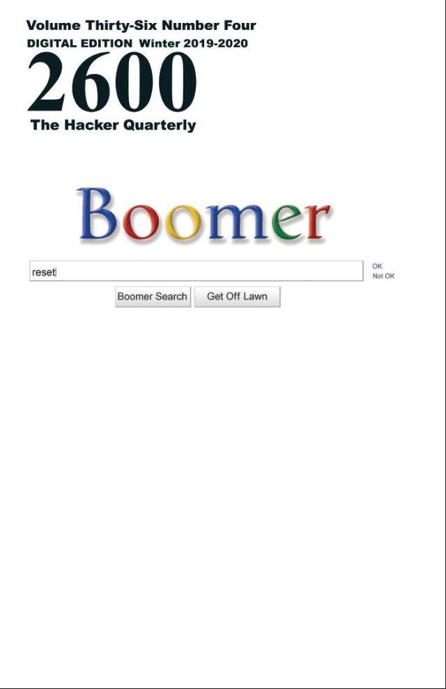 The Hacker Quarterly Winter 2020